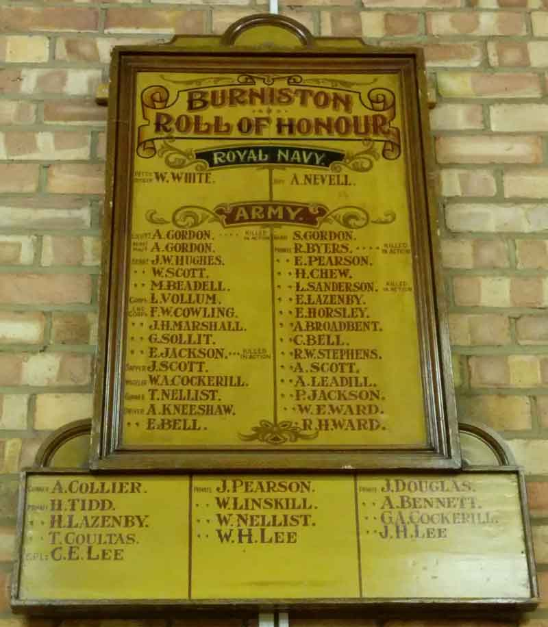 Burniston Roll of Honour