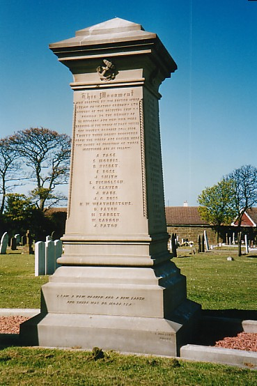 Memorial to the lost of SS Rohilla