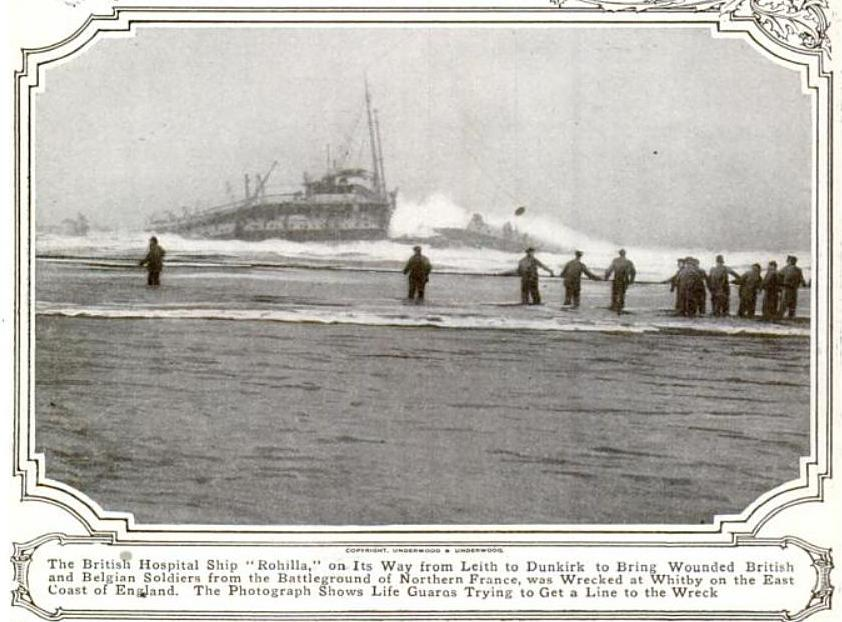 The SS Rohilla off Whitby